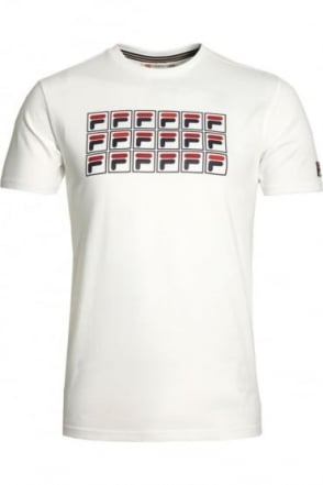 Lorenzi Raglan Graphic Print T-Shirt | White