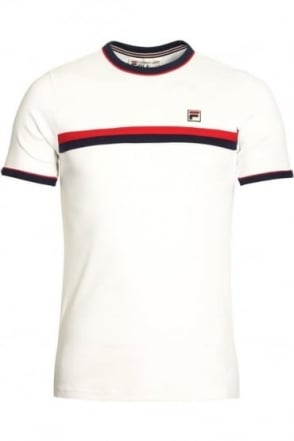 Razi Panel Crew T-Shirt White