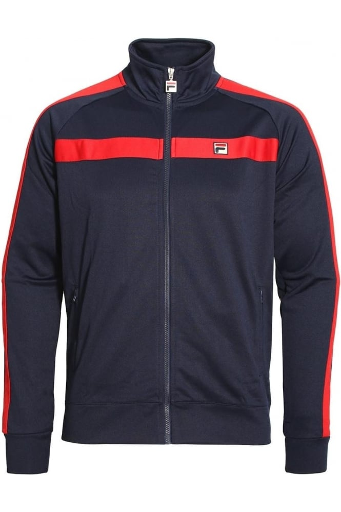 FILA VINTAGE Renzo Tricot Funnel Neck Track Jacket | Peacoat