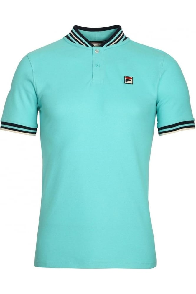FILA VINTAGE Skipper Baseball Polo Shirt Blue Radience