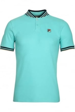 Skipper Baseball Polo Shirt Blue Radience