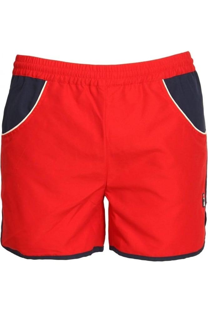 FILA VINTAGE Tomas Running Shorts Chinese Red