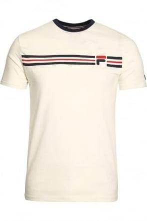 Vandorno Panel Crew T-Shirt Gardenia