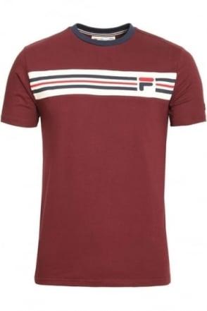 Vandorno Panel Crew T-Shirt | Rum Raisin