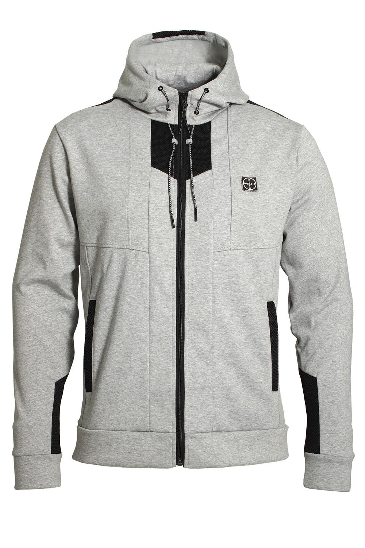 Men's Clothing Mens Zip Trough Hoodie FORAY Transporter Grey