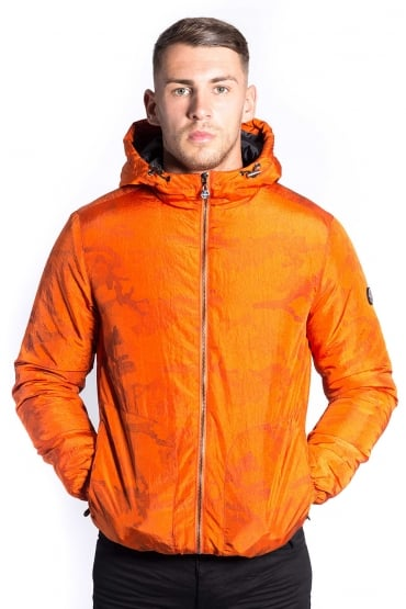 Core Hooded Down Jacket Orange