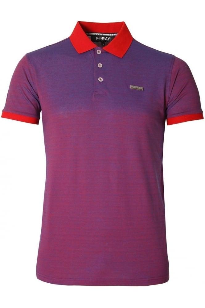 FORAY Craft Iridescent Polo Shirt Dazzling Blue