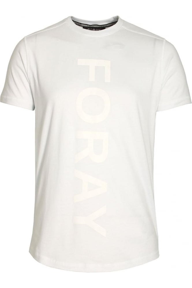 FORAY Draw Reflective Logo T-Shirt White