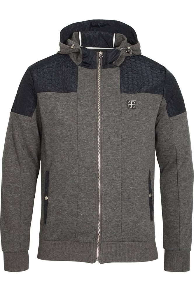 FORAY Dynamic Zip Though Hoodie Charcoal Marl
