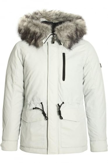 Helium Hooded Parka Jacket Arctic White