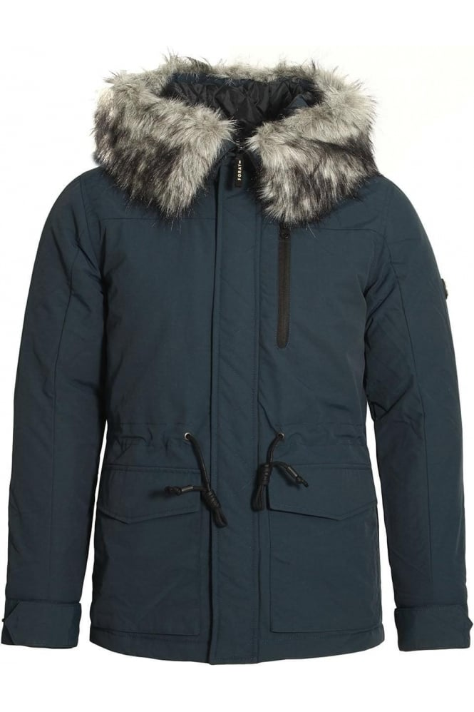 FORAY Helium Hooded Parka Jacket Dark Navy