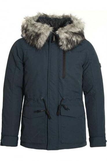 Helium Hooded Parka Jacket Dark Navy