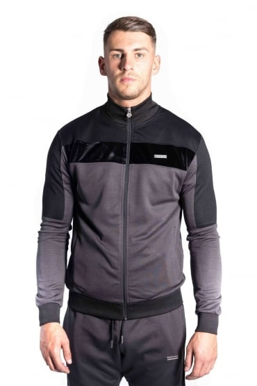 Invictus Funnel Neck Track Jacket Charcoal