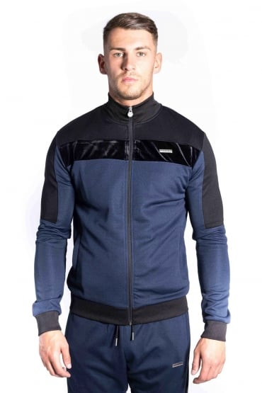 Invictus Funnel Neck Track Jacket | Navy