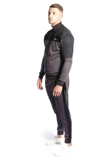 Invictus Funnel Neck Tracksuit | Charcoal