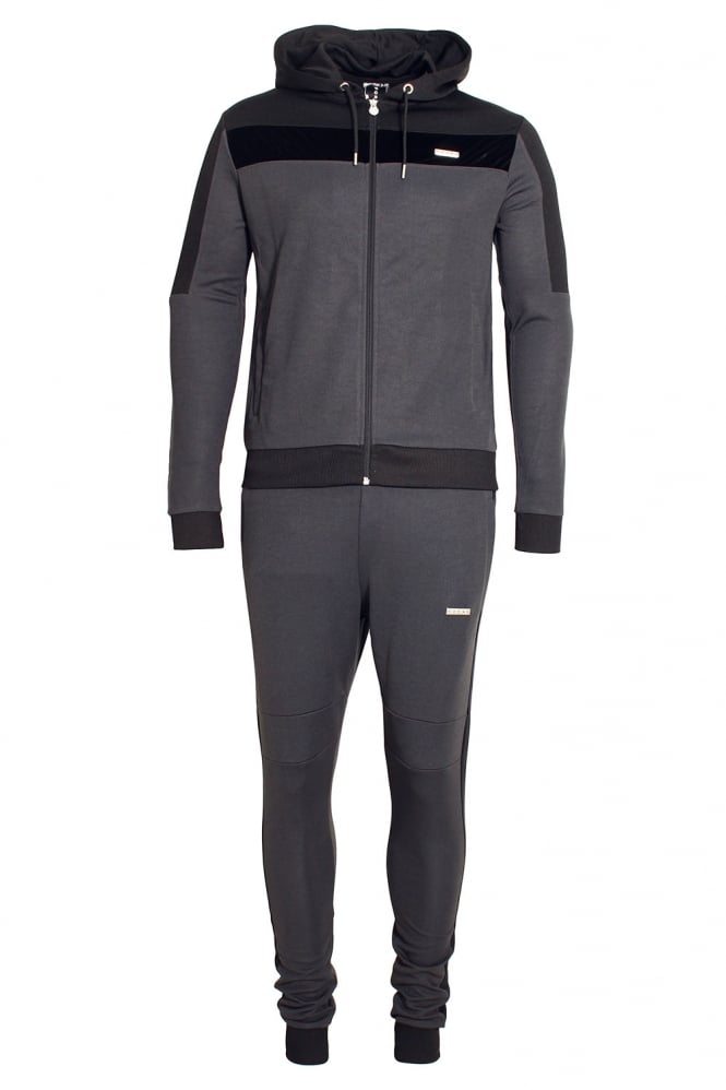 FORAY Invictus Hooded Tracksuit | Charcoal