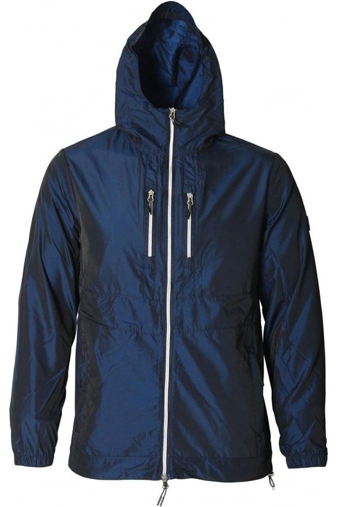 FORAY Iridescent Parka Jacket   Dress Blue