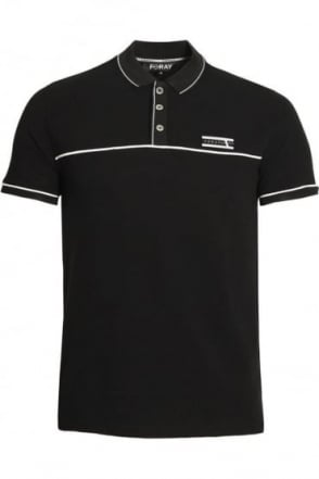 Jacquard Polo Shirt | Black