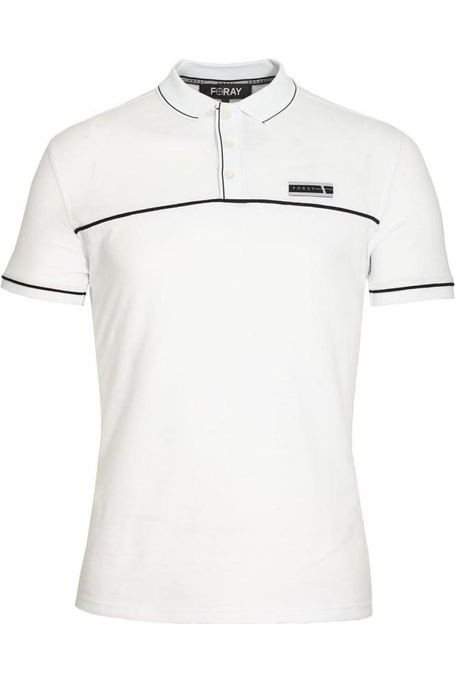 FORAY Jacquard Polo Shirt   White