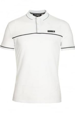 Jacquard Polo Shirt | White