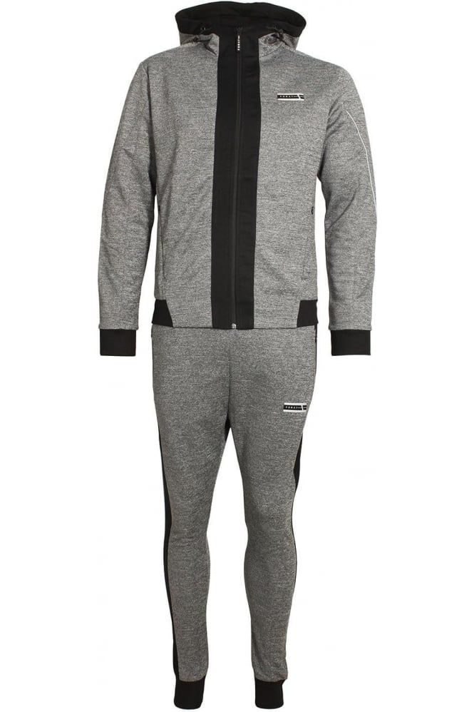 FORAY Loopback Ferrum Tracksuit Ant Black