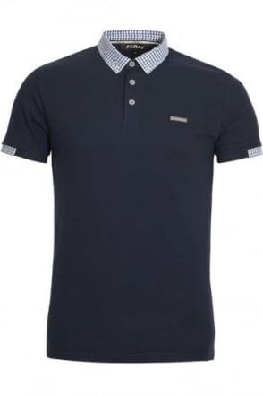Marina Pique Cotton Polo Shirt | Navy