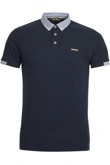 Marina Pique Cotton Polo Shirt | Navy
