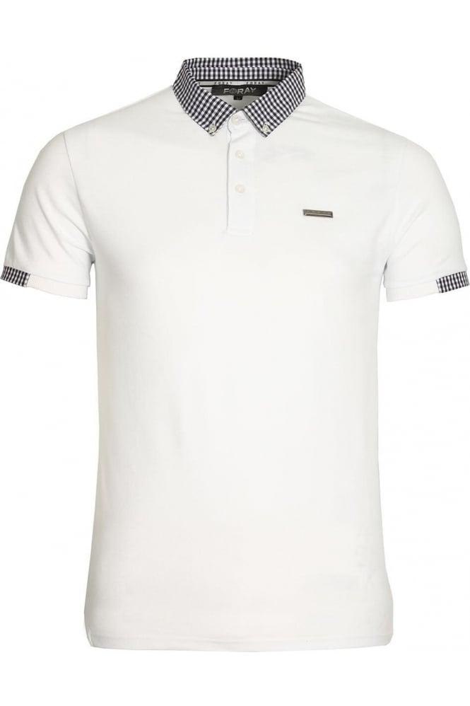 FORAY Marina Pique Cotton Polo Shirt | White