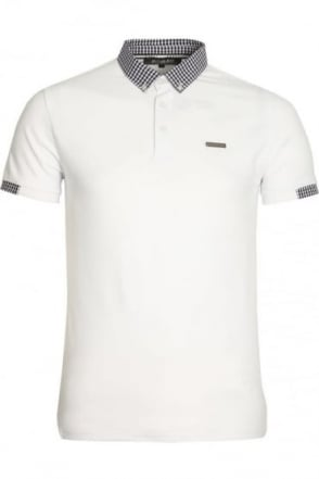 Marina Pique Cotton Polo Shirt | White