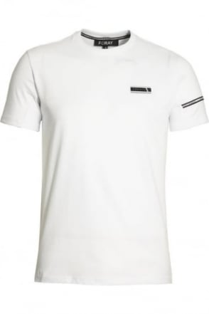 Mega Tee with Reflective Stripe White