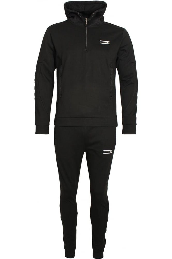 FORAY Mineral Mesh Panel Tracksuit Black