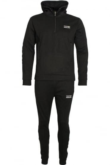Mineral Mesh Panel Tracksuit Black