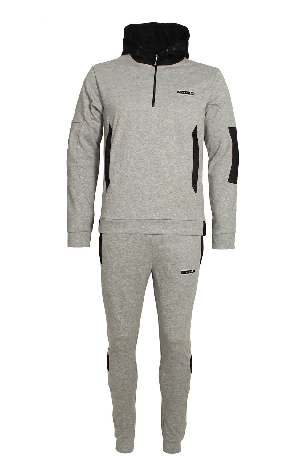 ef036cd8 Mineral Mesh Panel Tracksuit Grey Marl