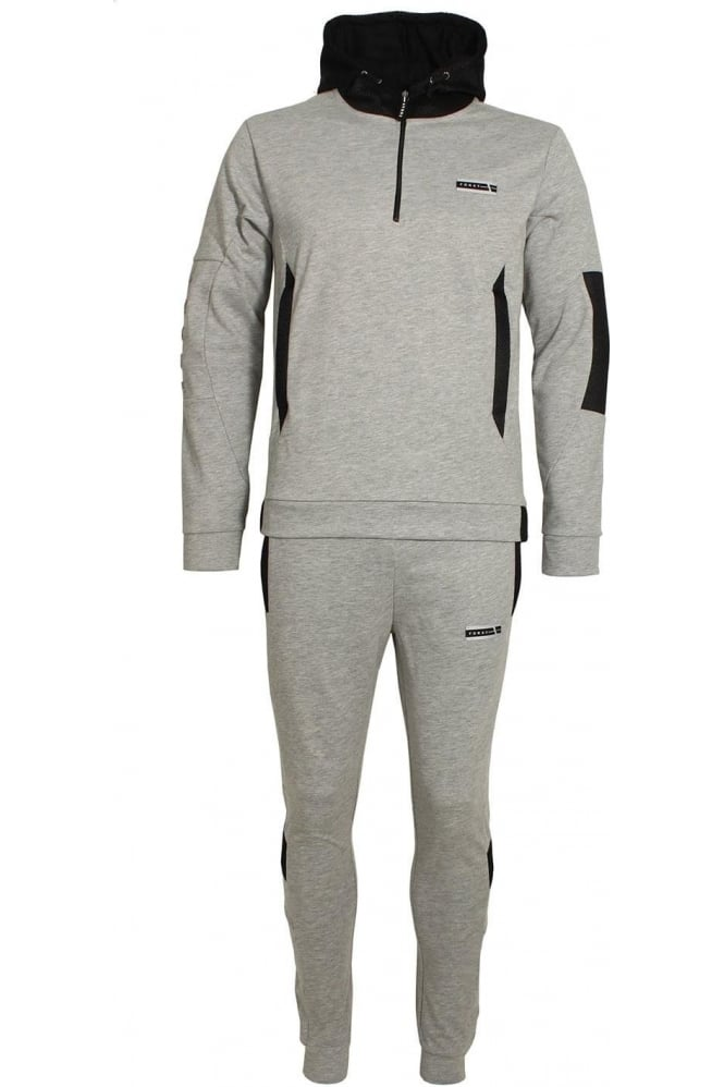 FORAY Mineral Mesh Panel Tracksuit Grey Marl