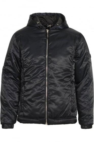 Oxygen Padded Military Hooded Jacket | Dark Navy