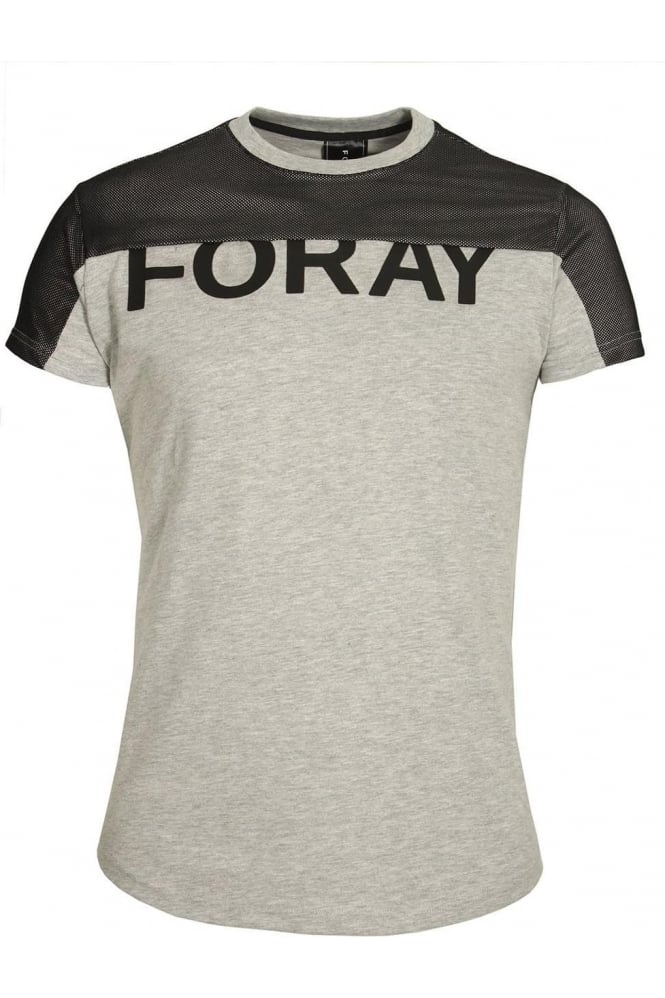 FORAY Platinum Mesh T-Shirt | Grey Black
