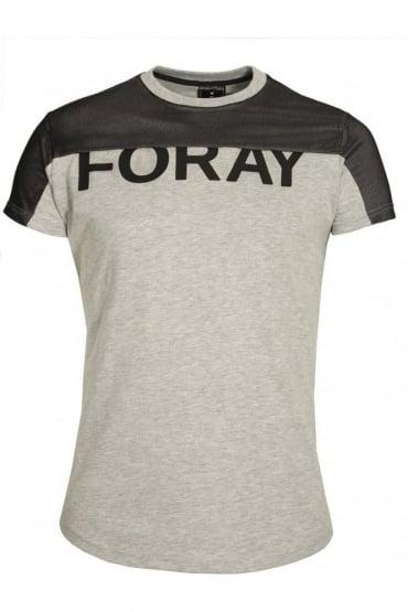 Platinum Mesh T-Shirt | Grey Black