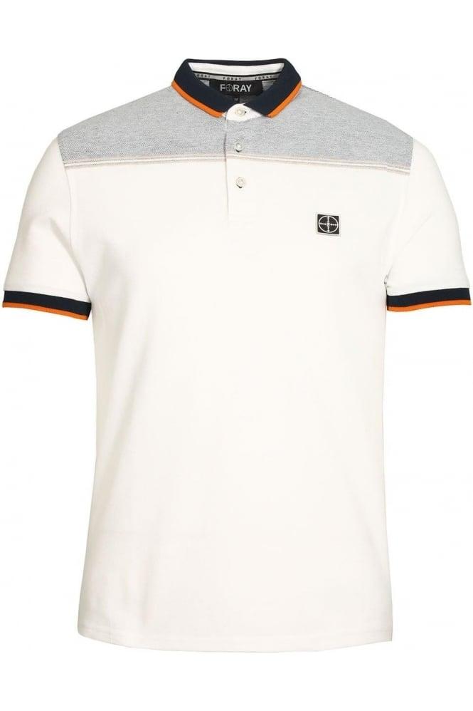 FORAY Python Polo Shirt | White