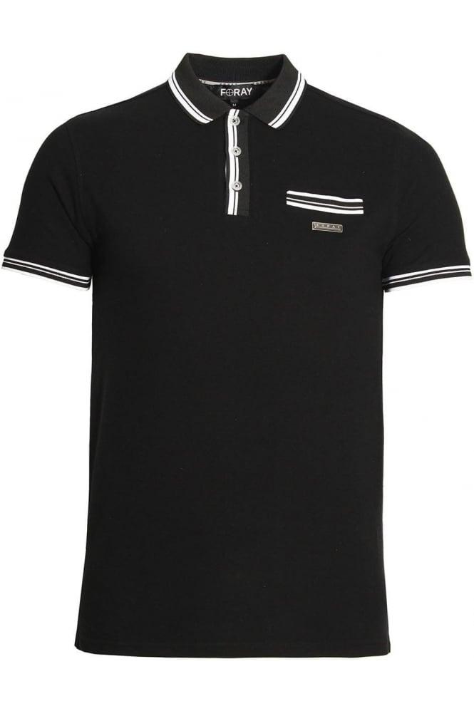 FORAY Vera Polo Shirt   Black