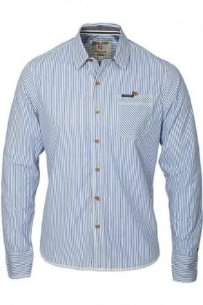 Badgley Pinstripe Shirt | Forever Blue