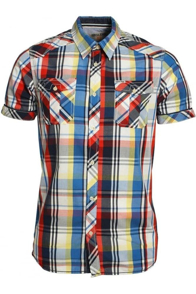 GARCIA JEANS Booth Short Sleeve Shirt | Flame Scarlet