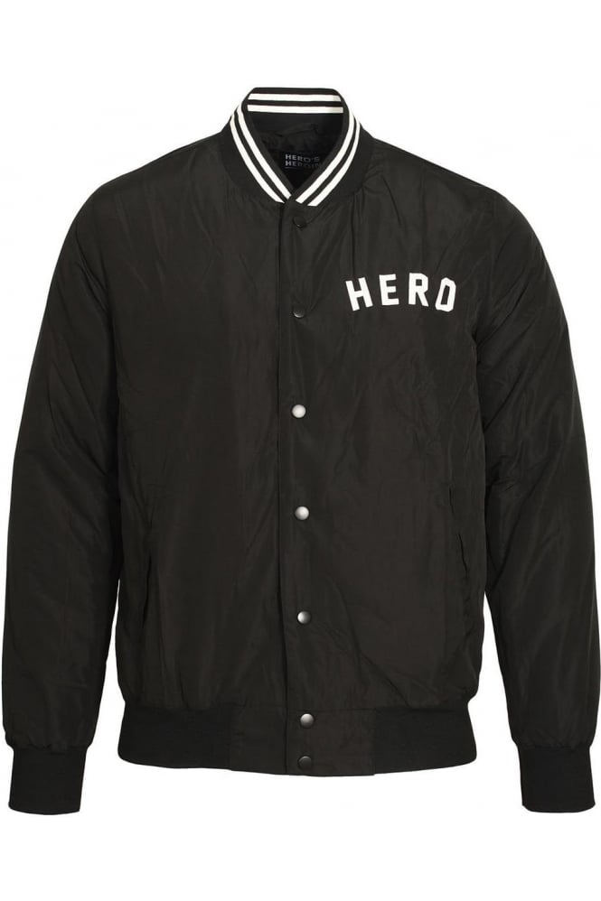 HERO'S HEROINE Black Bomber Jacket