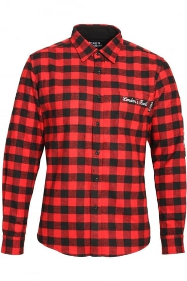Button Down Shirt Red Check