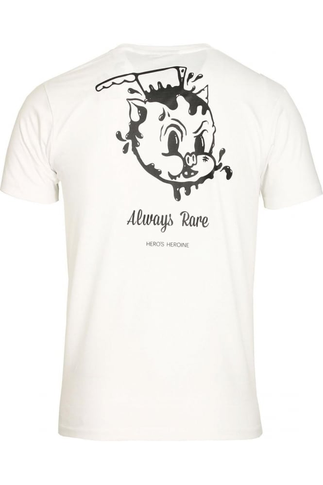 HERO'S HEROINE Dead Piggy T-Shirt White