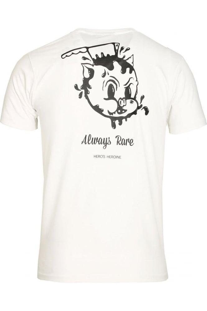 HERO'S HEROINE Dead Piggy T-Shirt White