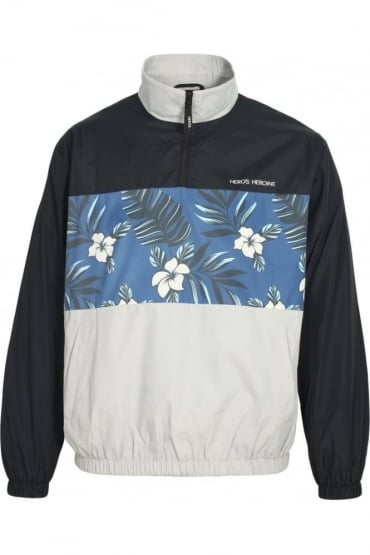 Floral Print Over The Head Jacket
