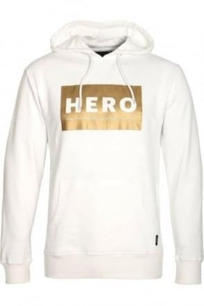 Gold Block White Hoodie