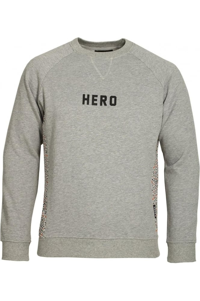 HERO'S HEROINE Grey Marl Panel Sweatshirt