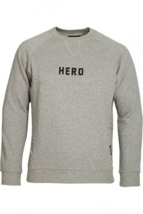 Grey Marl Panel Sweatshirt