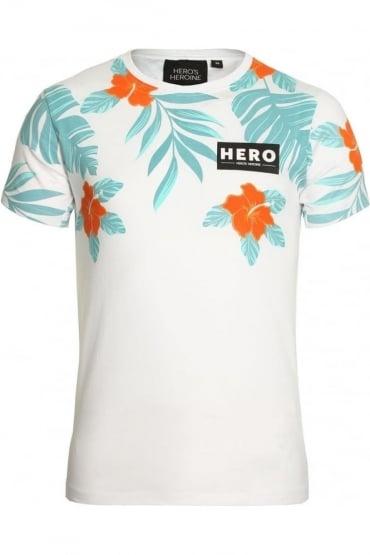Half Hibiscus T-Shirt White